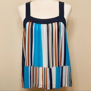LOFT Tank Striped Blouse- Size Small-NWT